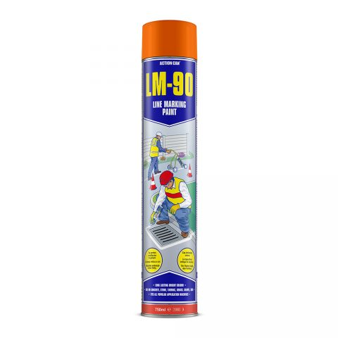 LM-90 LINE MARKING PAINT (ORANGE)  (1897) 750ml Aerosol