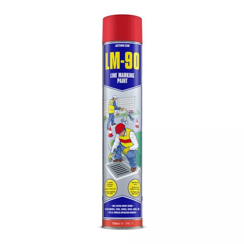 LM-90 LINE MARKING PAINT (RED)  (1891) 750ml Aerosol