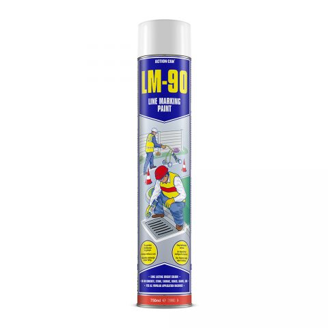 LM-90 LINE MARKING PAINT (WHITE)  (1745) 750ml Aerosol