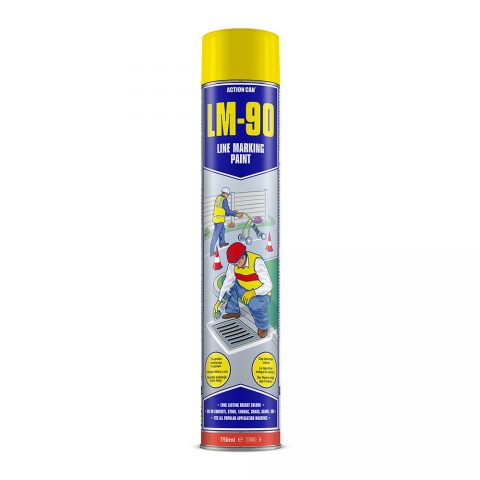LM-90 LINE MARKING PAINT (YELLOW)   (1744) 750ml Aerosol