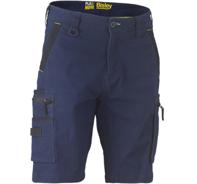 BISLEY Flex & Move™ Stretch Utility Cargo Shorts - UKSHC1330 / Navy