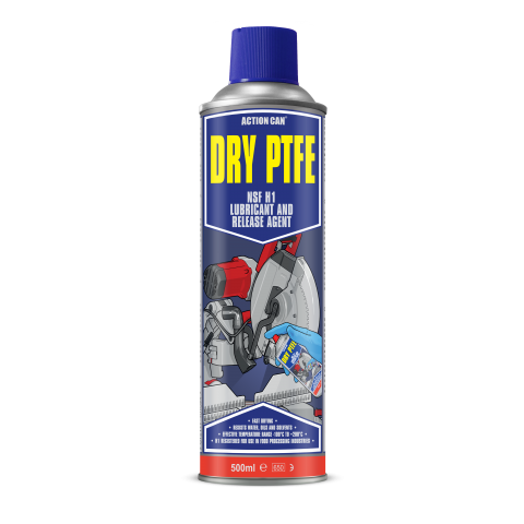 DRY PTFE LUBRICANT AND RELEASE AGENT FOOD GRADE (1962) 500ml Aerosol