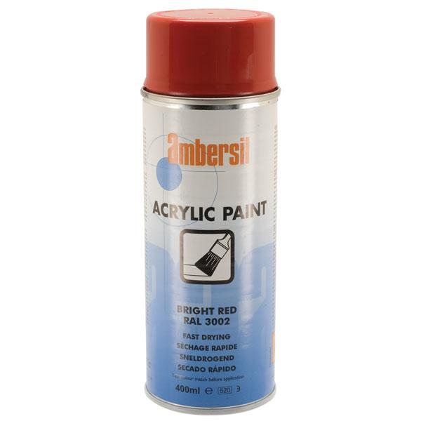 Ambersil Acrylic Paint Bright Red RAL 3002 400ml (20184) - Box of 6