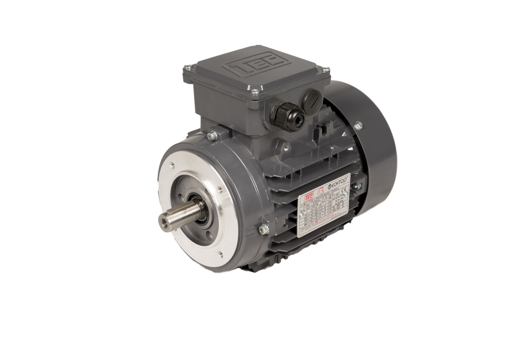 TEC IE3 Electric Motor 6 Pole 1000 RPM / 0.75 Kw / Frame Size:90S-6 / Aluminium B14 Flange Mounted