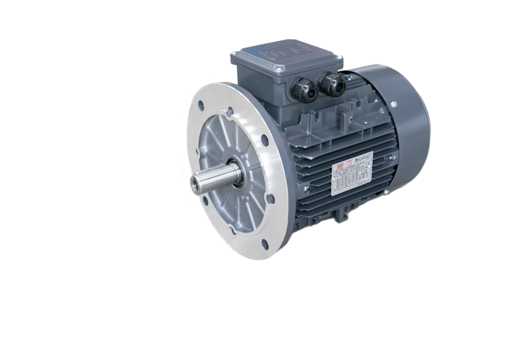 TEC IE3 Electric Motor 6 Pole 1000 RPM / 18.5 Kw / Frame Size:200L1-6 / Cast Iron B5 Flange Mounted