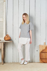 Amira Linen Short Sleeve Oversized T-Shirt No. 2