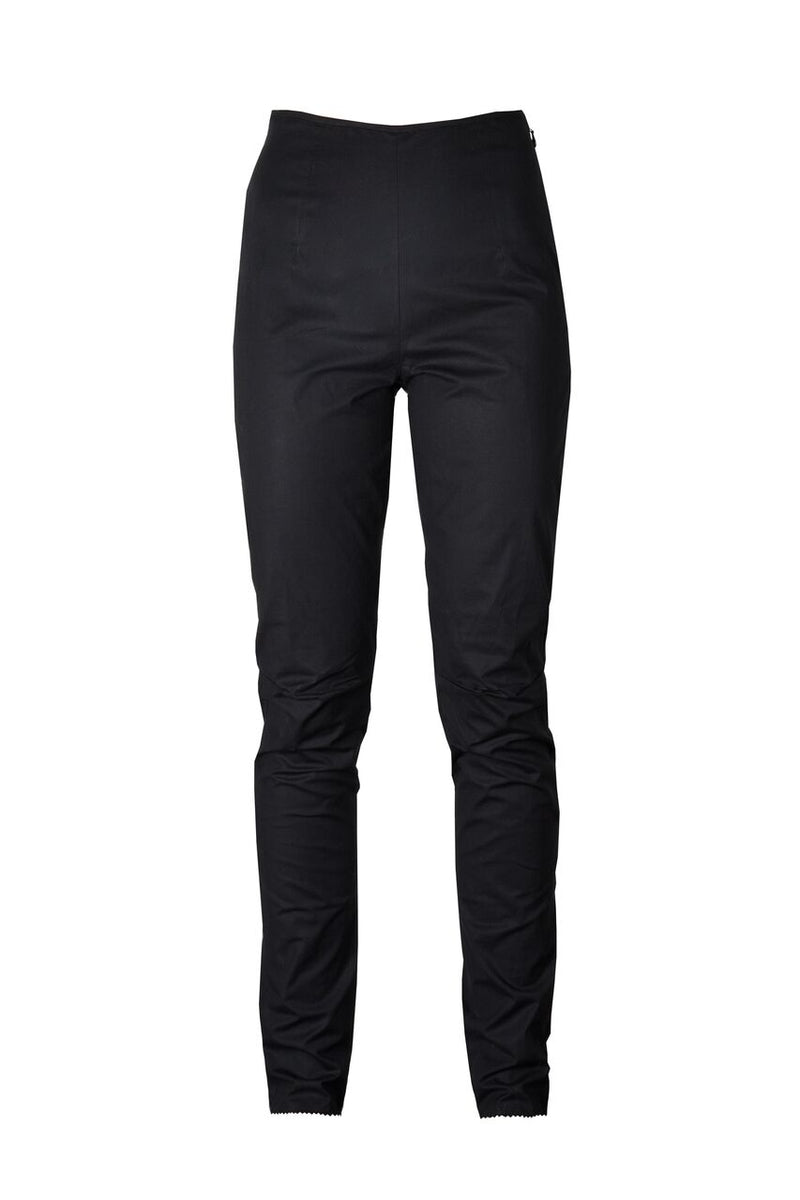 Willow Classic Black Cotton Fitted Pant
