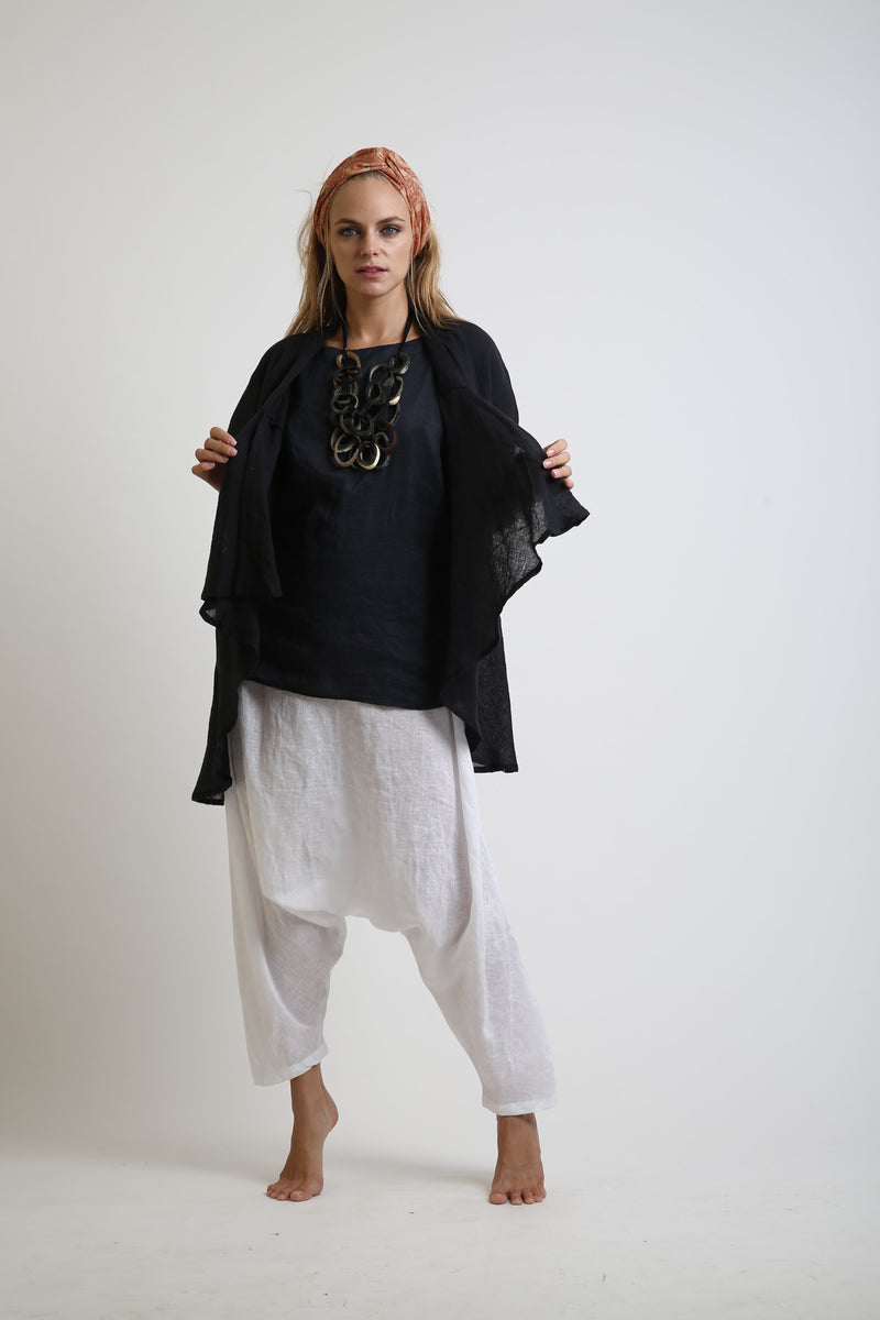Zoe Deconstructed Linen Top