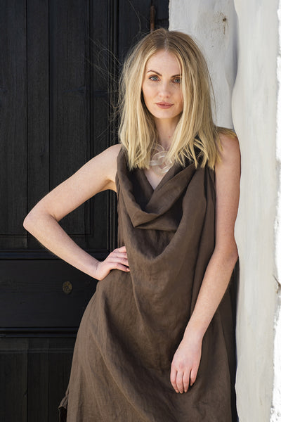 Ergo Paris Deconstructed Linen Dress