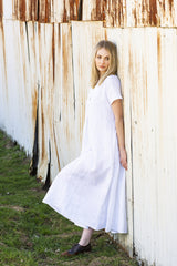 Amira Classic Long Linen Dress