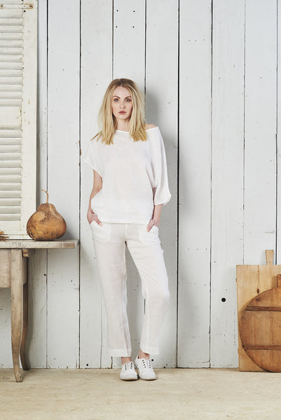Zahara Deconstructed Linen Top