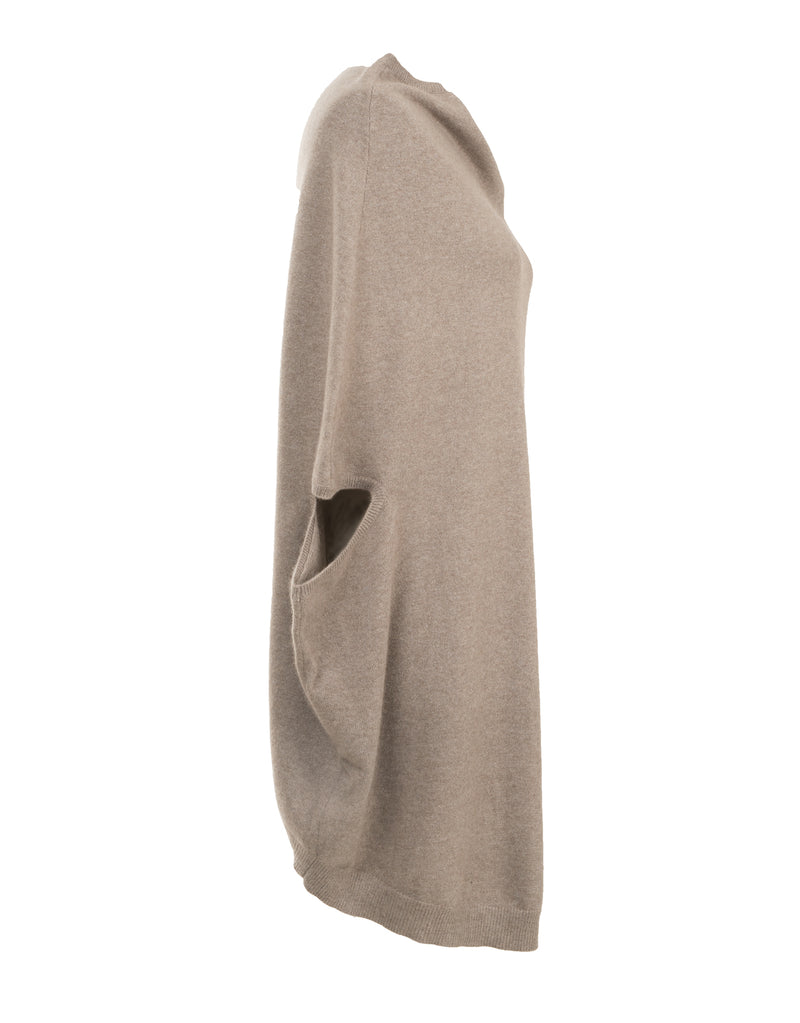 Willow Asymterical Sleeveless Pure Cashmere Cardigan