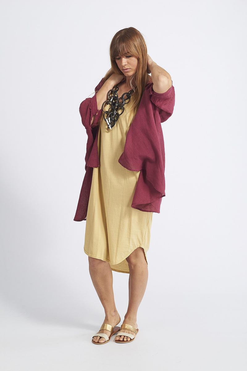 Minka Asymmetrical Long Cotton Dress