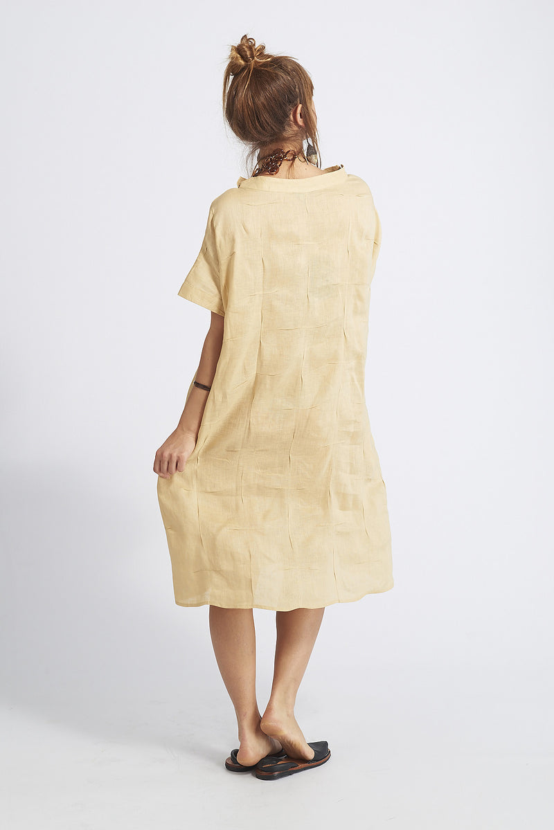 Asha Pleated Linen Top Dress
