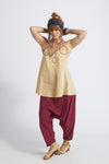 Asha Swing Cross Back Linen Top
