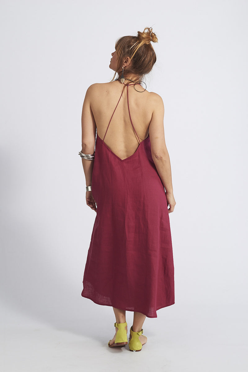 Asha Swing Cross Back Open Dress