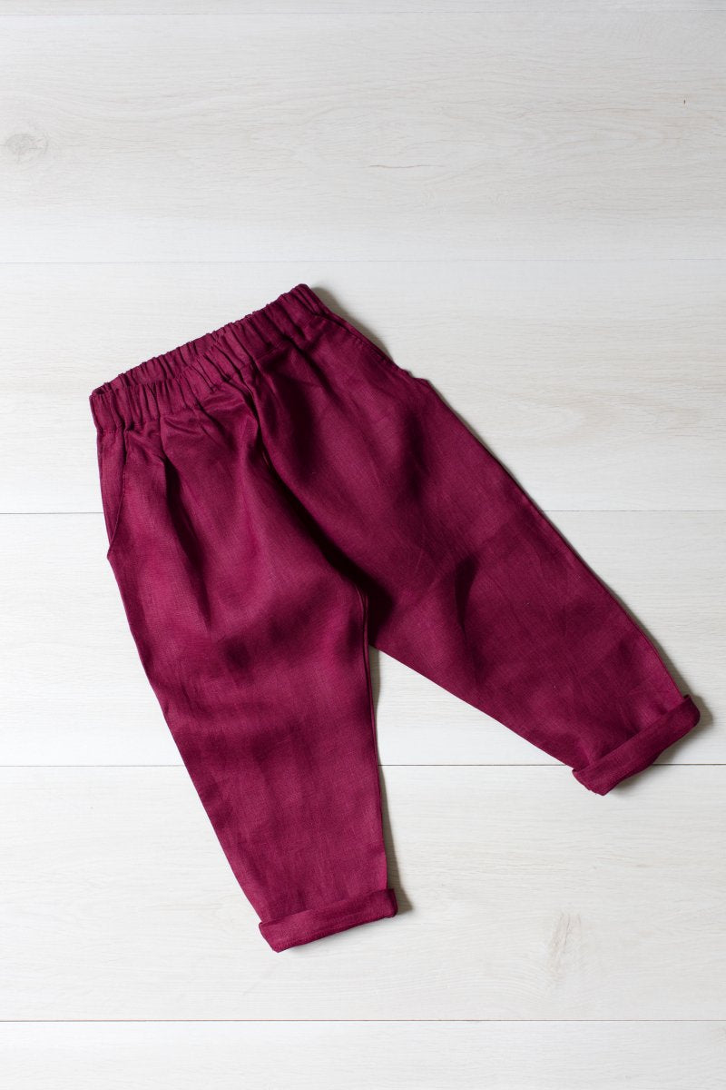 Maisy Linen Casual Pocket Pant