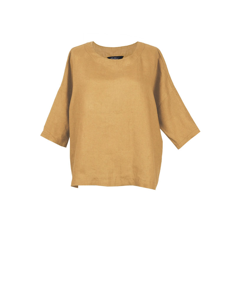 Zahara Long Sleeve  Linen Top