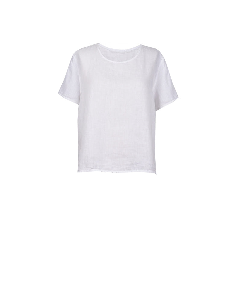 Amira Linen Short Sleeve T-Shirt No. 1