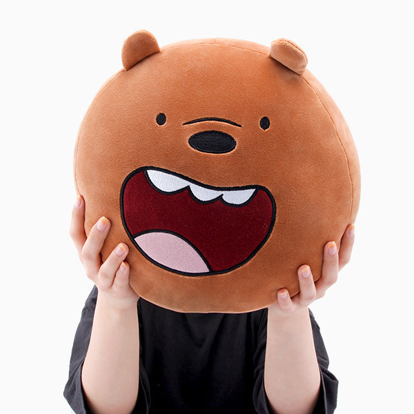We Bare Bears - Face Cushion - Grizzly