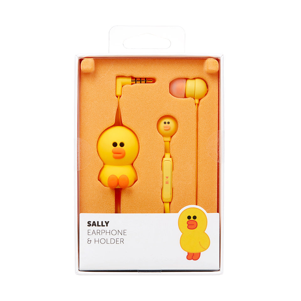 Line Friends - Sally Earphone Pouch Set - Bag - Harumio