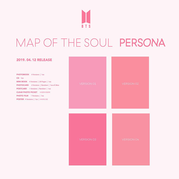 BTS - Map of the Soul: Persona CD Album (Pre-Order)