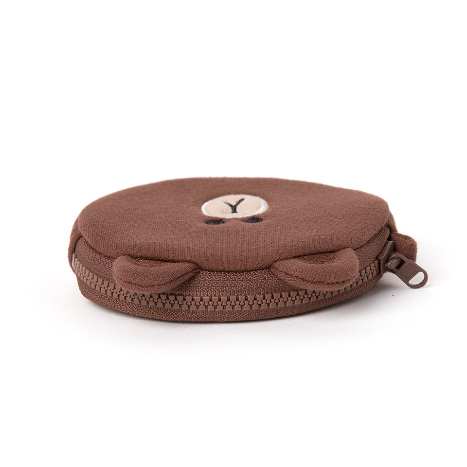 Line Friends - Brown Mini Coin Purse - Bag - Harumio