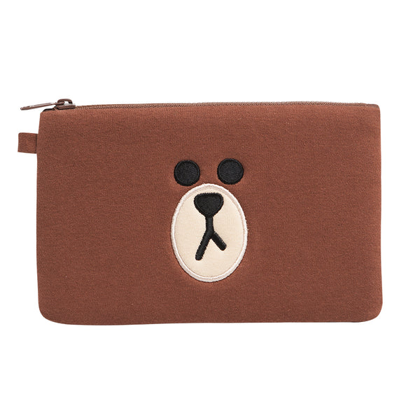 Line Friends - Brown Square Pouch - Bag - Harumio
