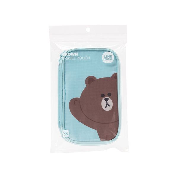 Line Friends - Brown Travel Pouch (SS) - Bag - Harumio