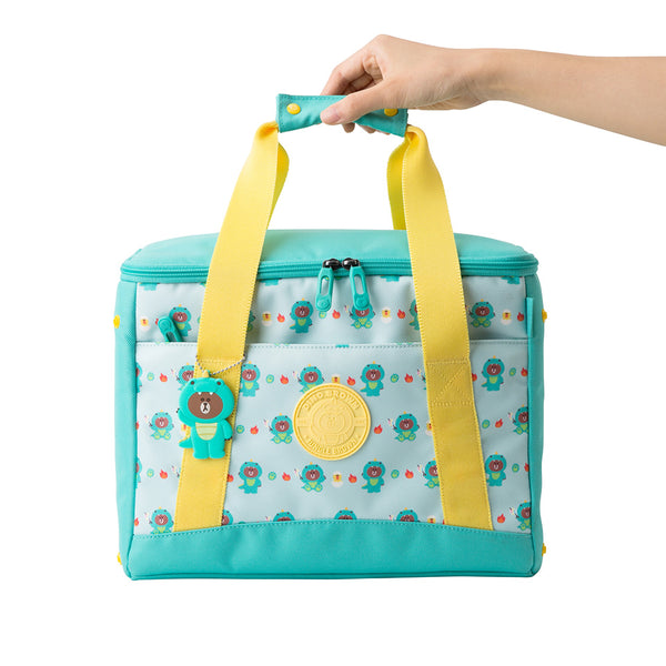 Line Friends - Dinosaur Brown Insulated Bag - Bag - Harumio