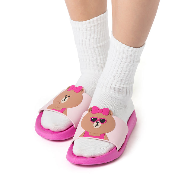 Line Friends - Choco Two Face Slipper - Shoes - Harumio