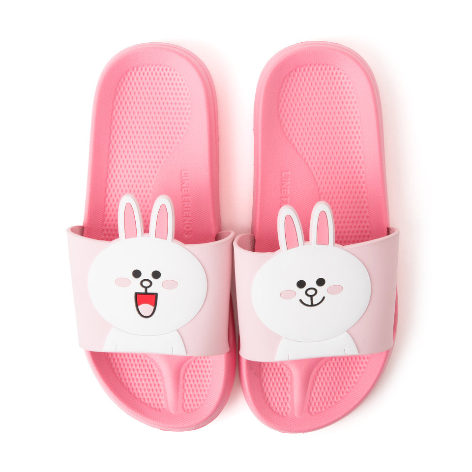 Line Friends - Cony Two Face Slipper - Shoes - Harumio