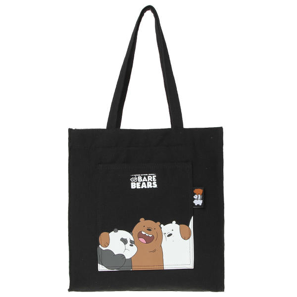 We Bare Bears X SPAO Eco Bag –  Black