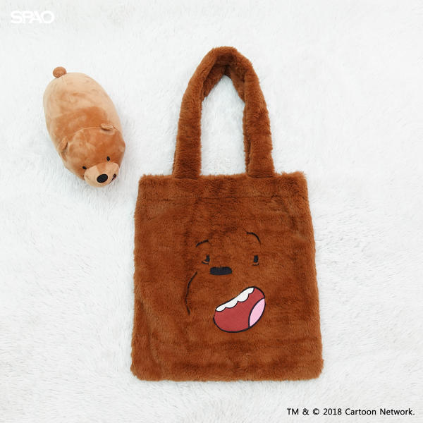 We Bare Bears X SPAO Fur Eco Bag –  Brown