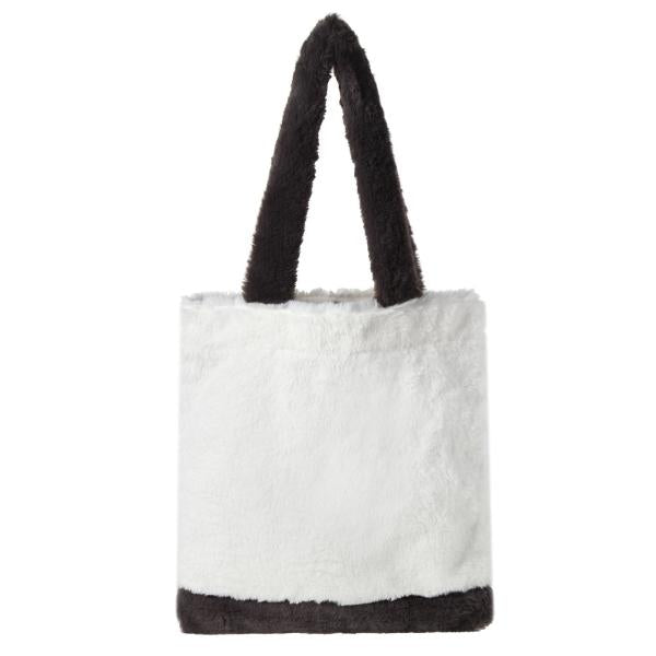 We Bare Bears X SPAO Fur Eco Bag –  Gray