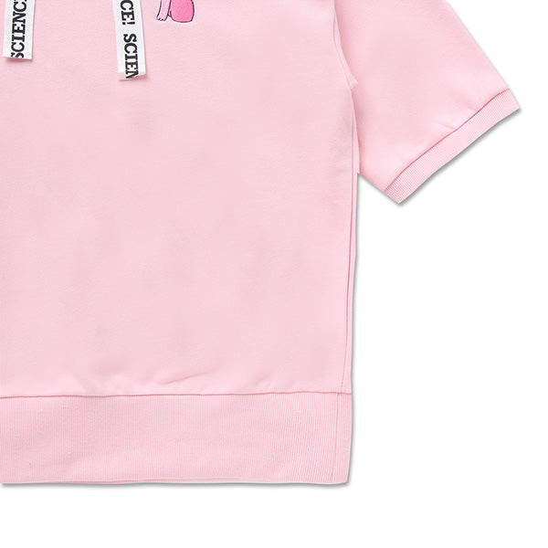 Adventure Time X SPAO - Colorful Set Up Top - Light Pink - T-Shirt - Harumio