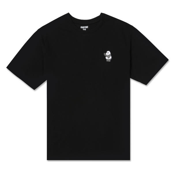 We Bare Bears X SPAO - Small Printing T-Shirt - Graphic Black