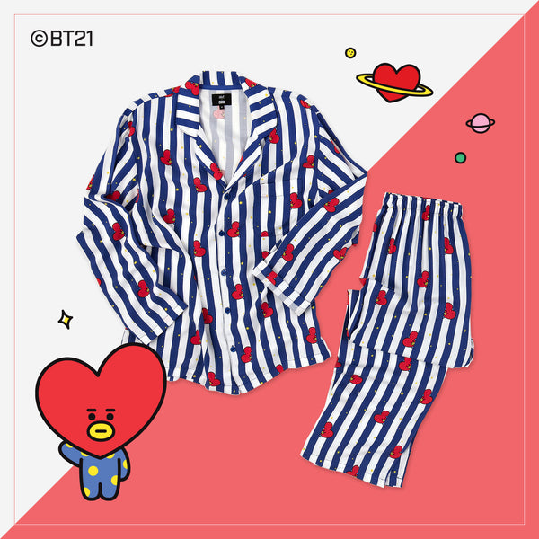 BT21 x Hunt Innerwear - Pajamas Set - Tata - T-Shirt - Harumio
