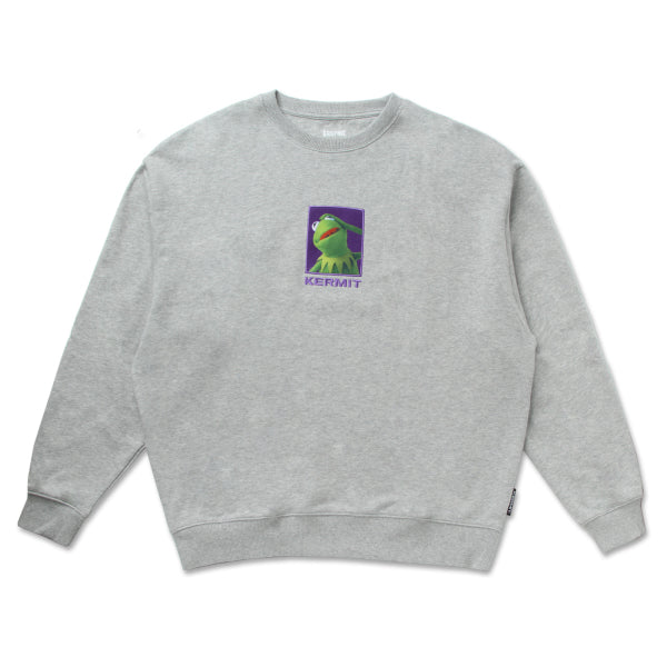SPAO x Disney - Kermit Crewneck Sweater - White