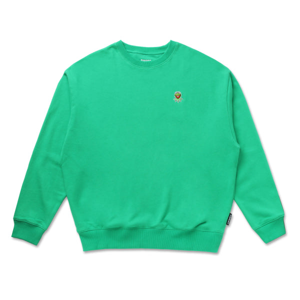 SPAO x Disney - Kermit Crewneck Sweater - Light Grey