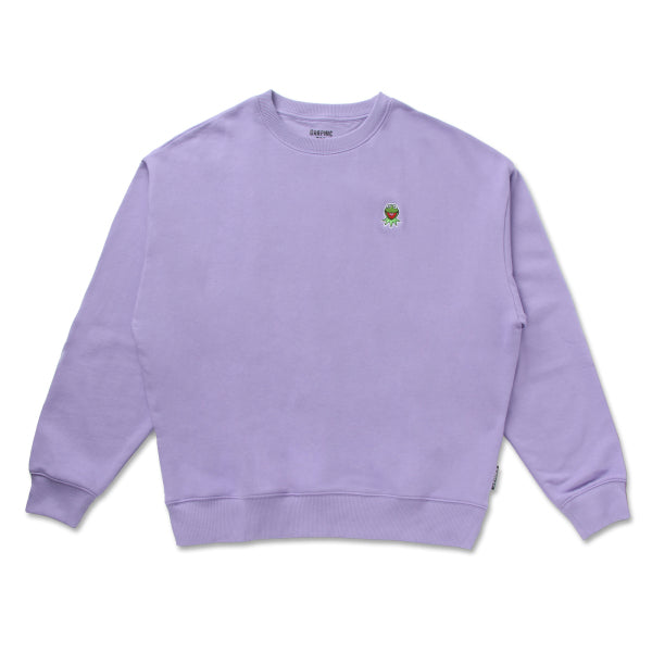 SPAO x Disney - Kermit Crewneck Sweater - Light Purple