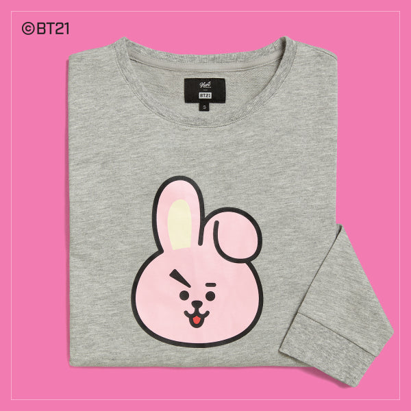 BT21 x Hunt Innerwear - Long Sleeve Polo Shirt - Cooky