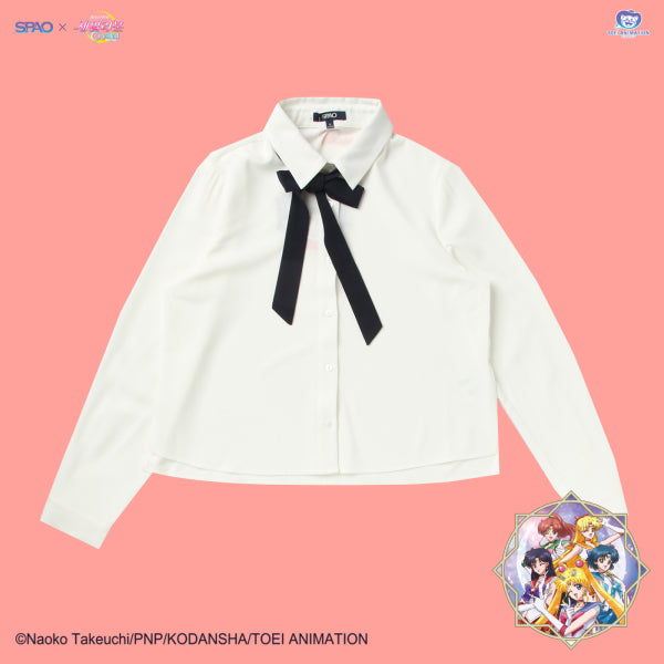 SPAO x Sailor Moon - Ribbon Crop Shirt
