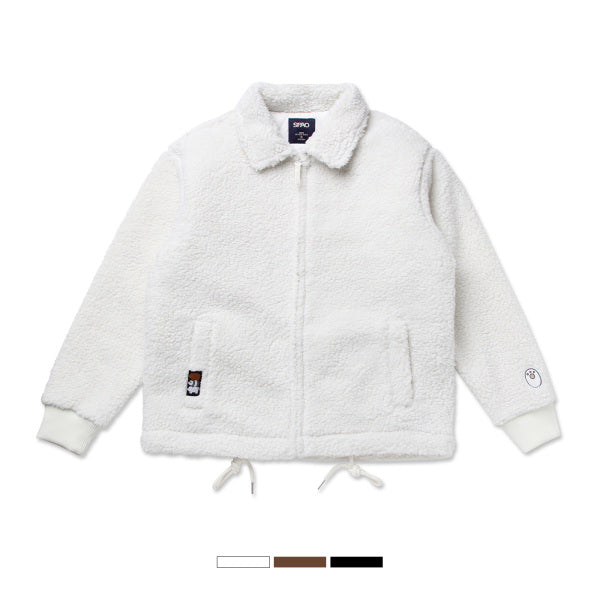 We Bare Bears x SPAO - Fleece Zip-Up Sweater