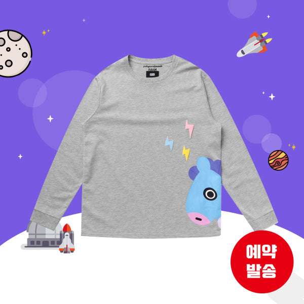 BT21 x Hunt Innerwear - Long Sleeve Shirt - Peekaboo Mang