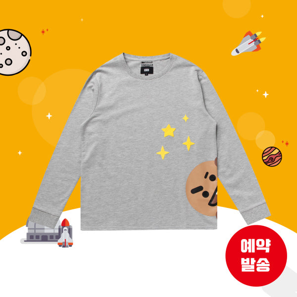 BT21 x Hunt Innerwear - Long Sleeve Shirt - Peekaboo Shooky
