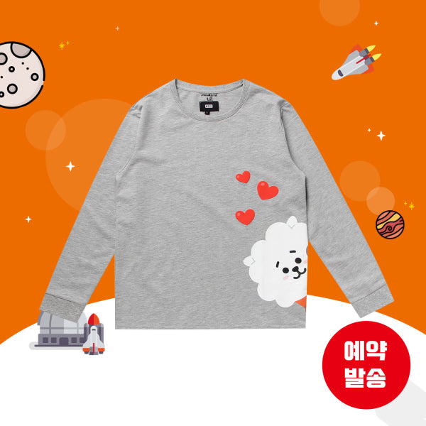 BT21 x Hunt Innerwear - Long Sleeve Shirt - Peekaboo RJ