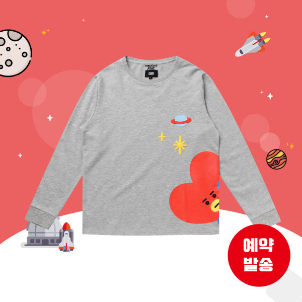 BT21 x Hunt Innerwear - Long Sleeve Shirt - Peekaboo Tata