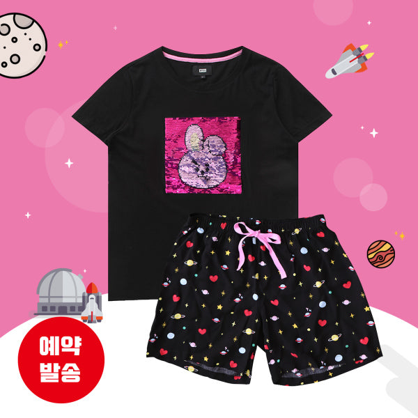 BT21 x Hunt Innerwear - Sequins Pajama Set - Cooky