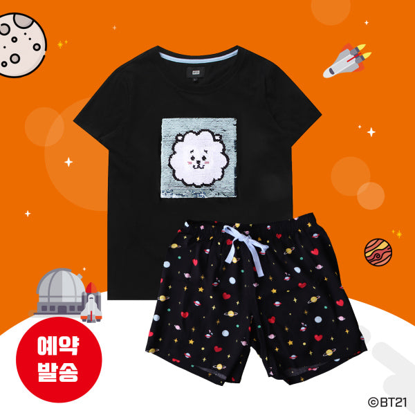 BT21 x Hunt Innerwear - Sequins Pajama Set - RJ